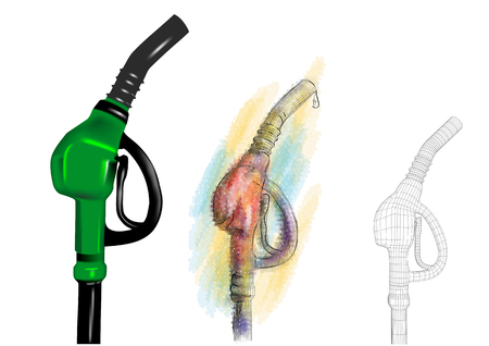 petrol pump. set of pumps on white background Ilustrace