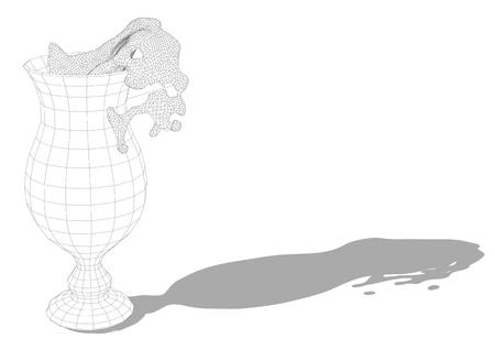 Hurricane glass isolated on a white background Ilustrace