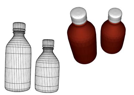 small medical bottles