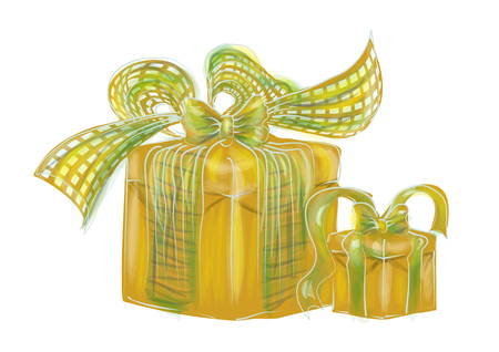 Birthday presents Illustration