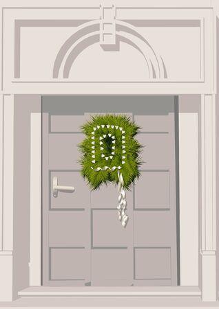 christma door decoration Illustration