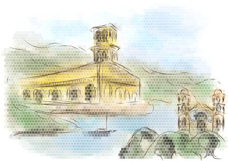 Alajuela city painting.