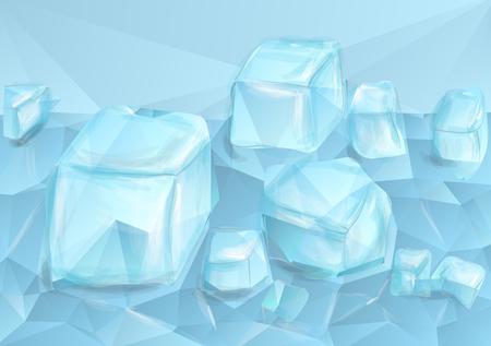 Blue crushed ice on abstract design. Ilustração