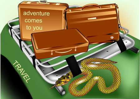 adventure comes to you. abstract travel background