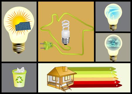 ecology and alternative energy set 向量圖像