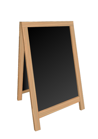sandwich board isolated on a white background on white
