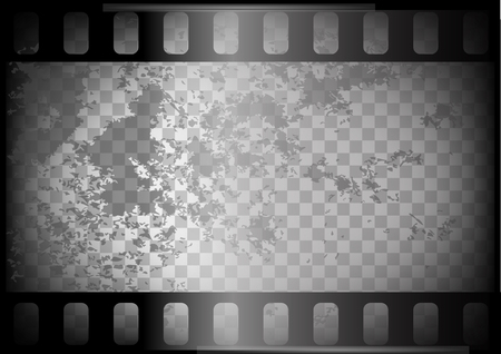 old film on trasparent background. empty negative