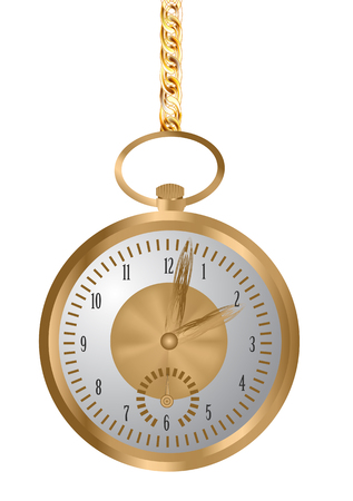 pocket watch isolated on a white background Фото со стока - 110458745