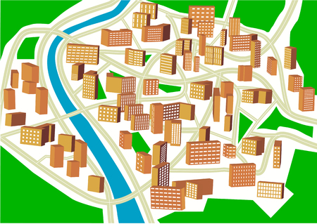abstract town plan. Plan of a nonexistent city