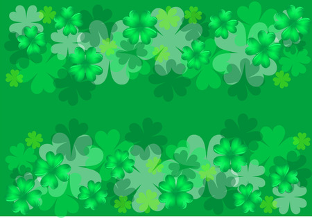 green background with clovers in 10 EPS