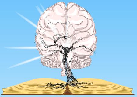 libro e cervello. Il tempo libero come fonte di conoscenza Vettoriali