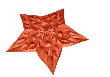 starfish isolated on white background. 10 EPS Çizim