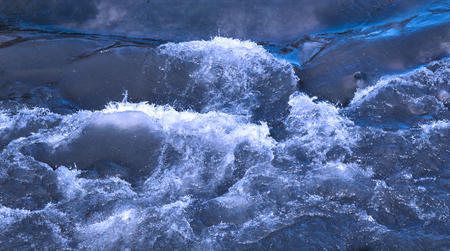 A background with river. Abstract landscape of the river rapids