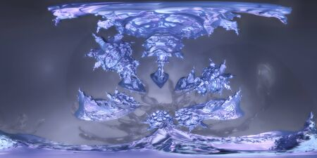 abstract planet HDRI map 3d illustration