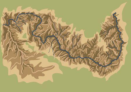 grand canyon national park abstract  vector map