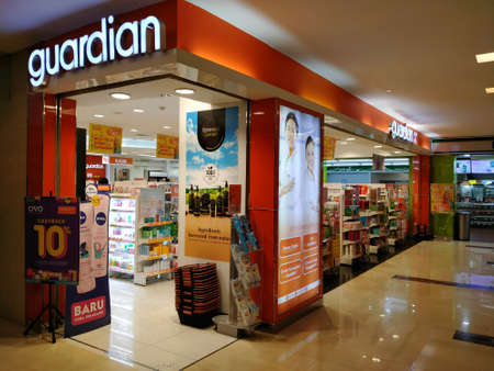 WTC II, Sudirman, Jakarta, Indonesia - April 28, 2020 : Minimarkets that sell drugs, open in office areas during the virus pandemic Editorial
