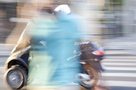 Moving Motorbike – Fast Motorcycle, Blurred Backgrounds