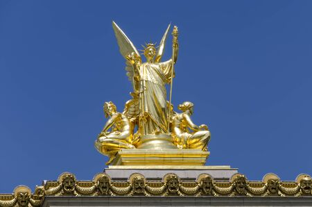 An angle statue at Palais Garnier (Paris Opera House)