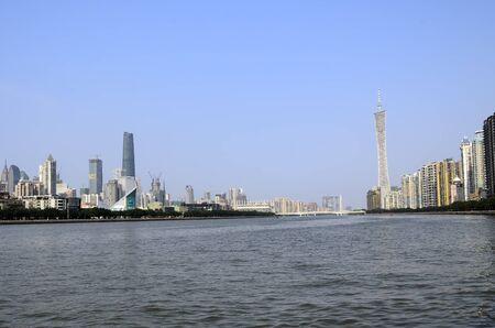 Pearl river (Zhujiang river) - Guangzhou (Canton) river landscape