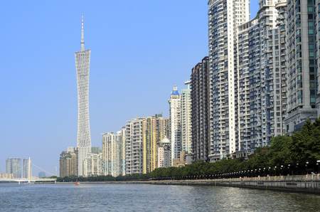 Guangzhou riverside properties - Pearl River -Canton China.
