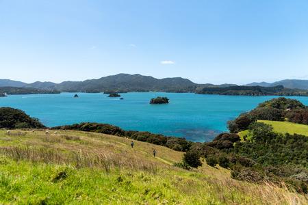 Beautiful marine blue harbor of Bay of Islands- New Zealand