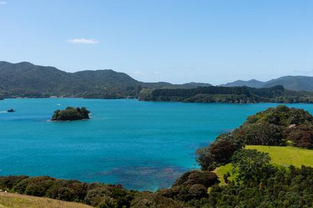 Beautiful seascape of New Zealand Bay of Islands Reef.