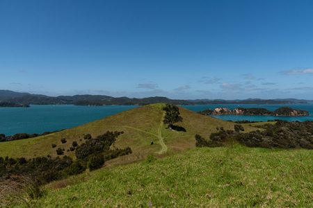 Beautiful Scenery of New Zealand Island Bay Of Islands.