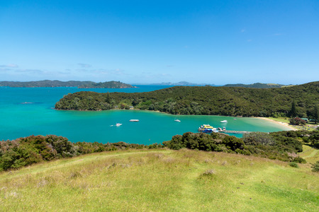 Beautiful landscape of Urupukapuka Island, Otehei Bay - Bay of Islands, New Zealand. 免版税图像 - 121491526