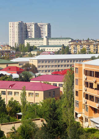 Photo taken in one of the densely populated and green areas of Baku