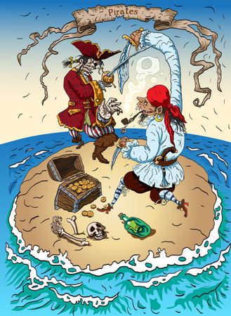 Pirates on the Island are fighting for treasure