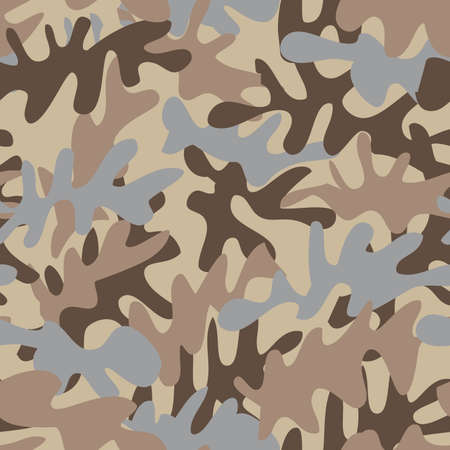 Desert camouflage seamless pattern for the army or fashion.