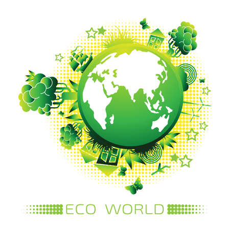 Environment logo with a globe