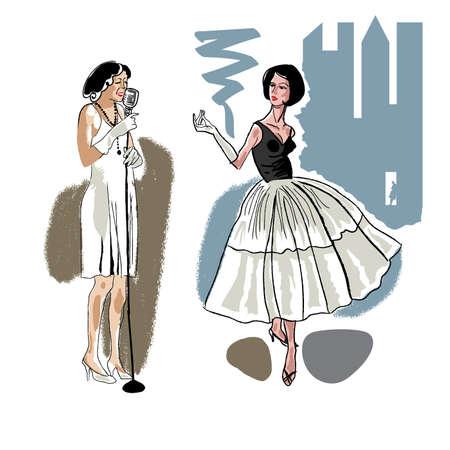 50s: Female character fashion Girls 50s
