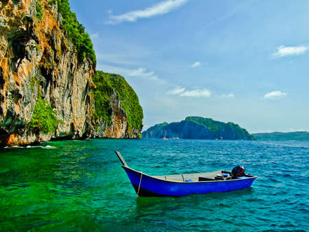 Boat in the sea photo