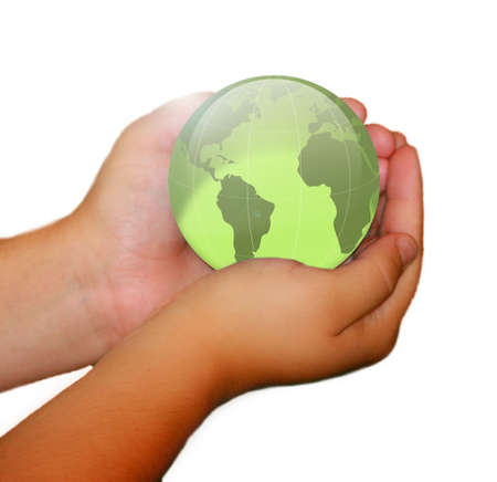Holding the world in the palm of your hand. Stock Photo - 3168567