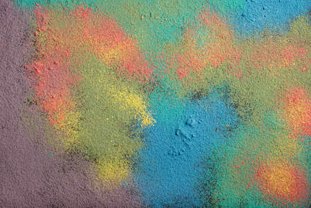 chalky: Powder of colored chalk. Natural close-up detailed color texture for background.