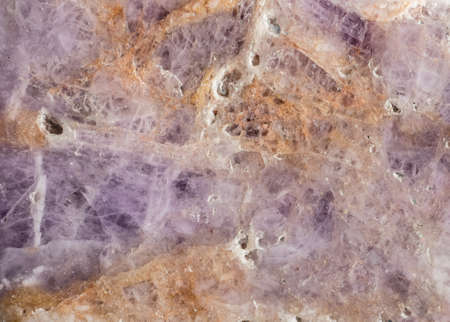 rubellite: Structure of natural mineral transparent quartz with pink tourmaline or rubellite crystals. Patterns and textures for abstract background and wallpaper. Stock Photo