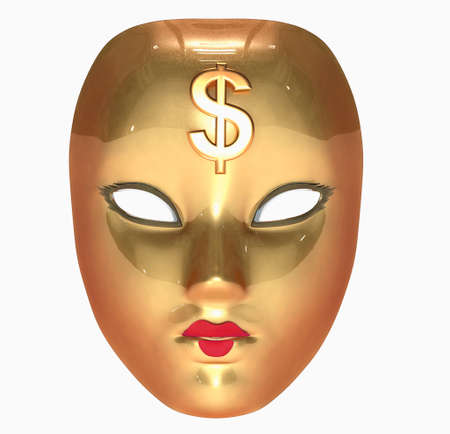 Golden mask Stock Photo - 11037377