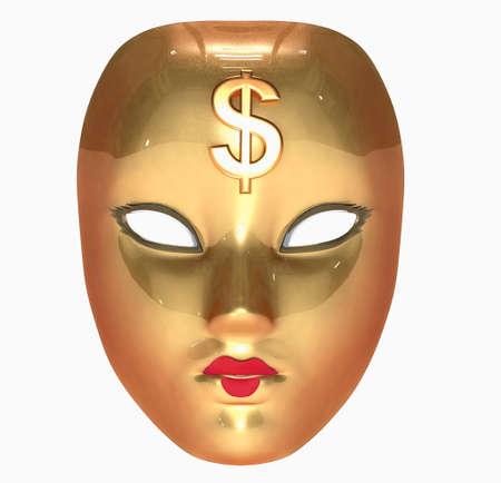 Golden mask Stock Photo - 11037377