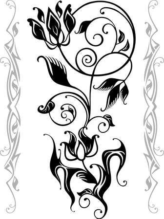 Abstract floral silhouette, element for design Stock Vector - 11357996