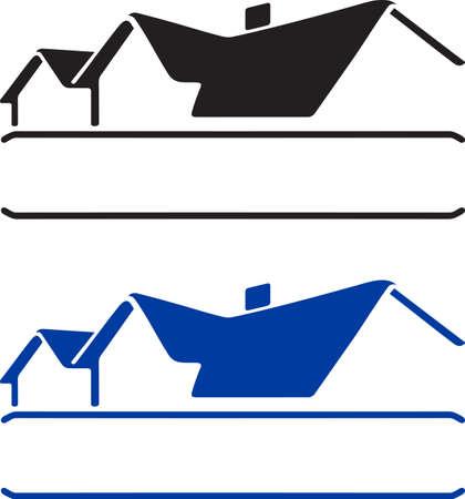 toiture maison: Plaque de maison