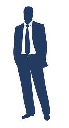 Businessman silhouette  Illustration