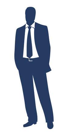 businessman standing: Businessman silhouette  Illustration