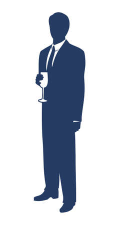 macho man: Businessman celebrating