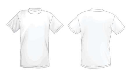 Blanc vector modèle de conception T-shirt (avant et arrière) Banque d'images - 11357958