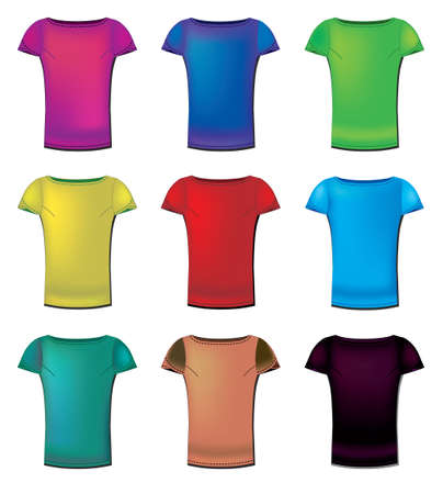 A collection of womens t-shirts templates  Vector