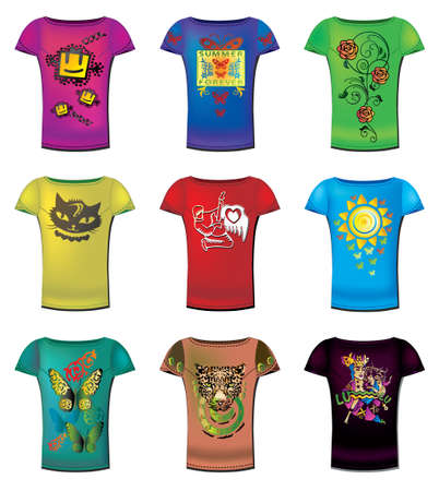 short sleeve: A collection of womens t-shirts templates