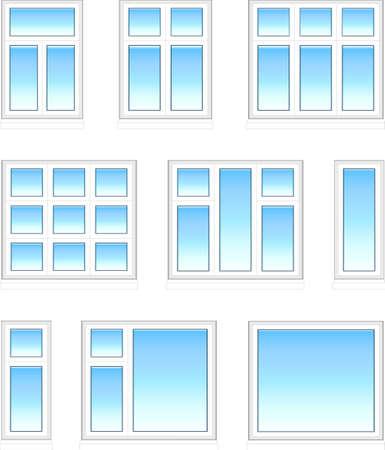 Plastic windows in color