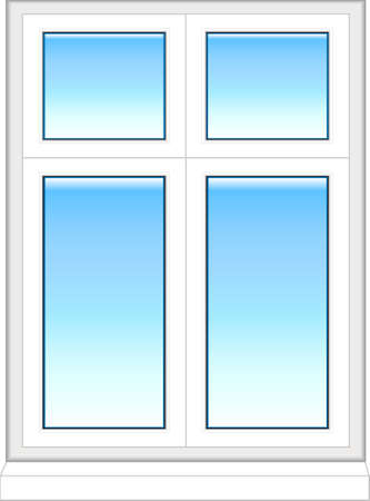 Plastic window in color  Vector