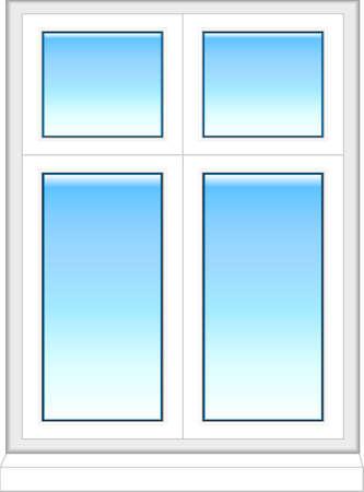 plastic window: Plastic window in color